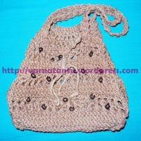 How Did I Knit My Jute Shoulder Bag?