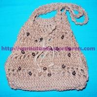 How Did I Knit My Jute Shoulder Bag?