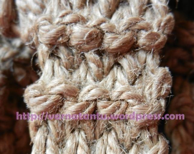 Knitting Yrn P2tog : How did i knit my jute shoulder bag tantu