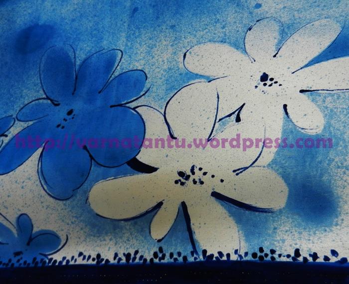 Hand Painted Designer Sari (4/6)