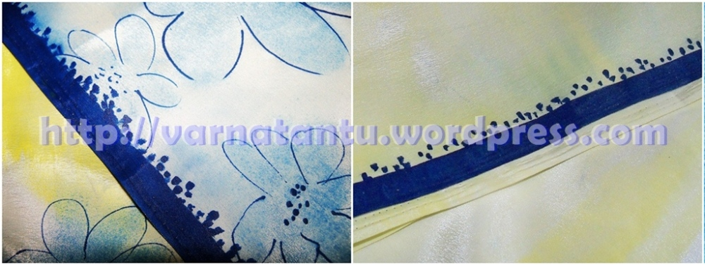 Hand Painted Designer Sari (6/6)