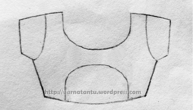 A type of Princess Line that joins at the centre of the bodice forming a semi circle at the centre.