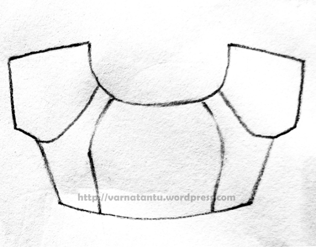 Raglan style bodice with Princess Line (from neckline)