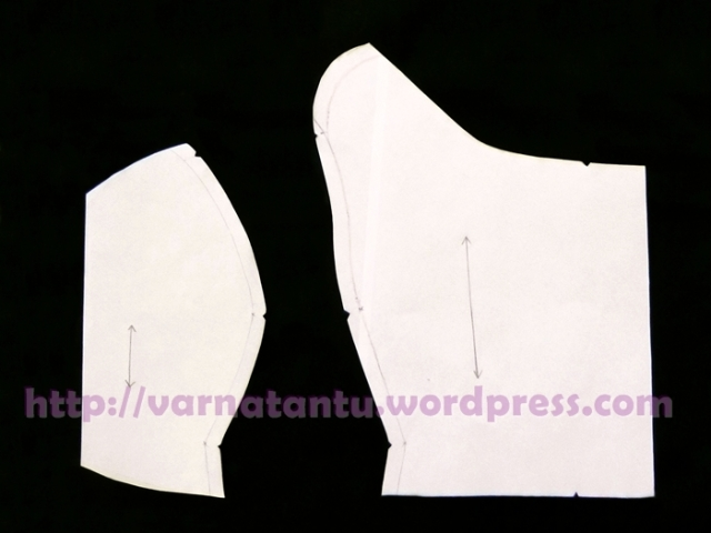 Princess Line From Neck Line - Front Bodice with Princess Line - After Cutting