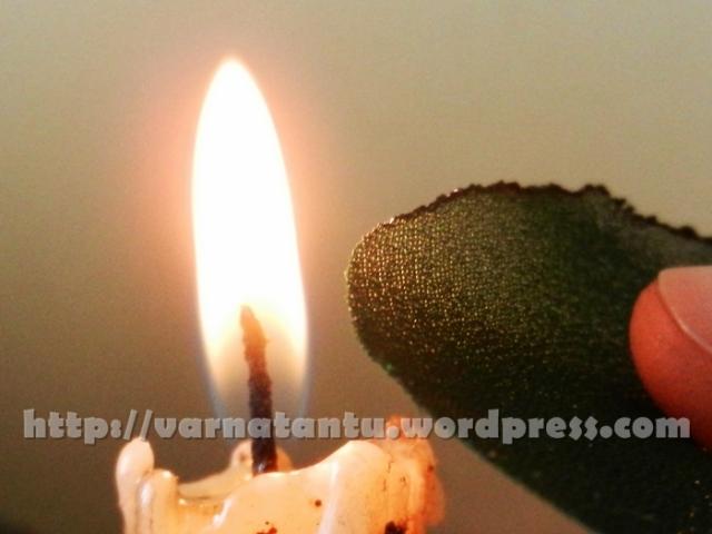 Beaded Yo Yo Patch Work - Securing The Motif Edge By Burning