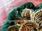 Ruffled Motif Patch Work By Gathering - Folding And Tacking at Regular Intervals