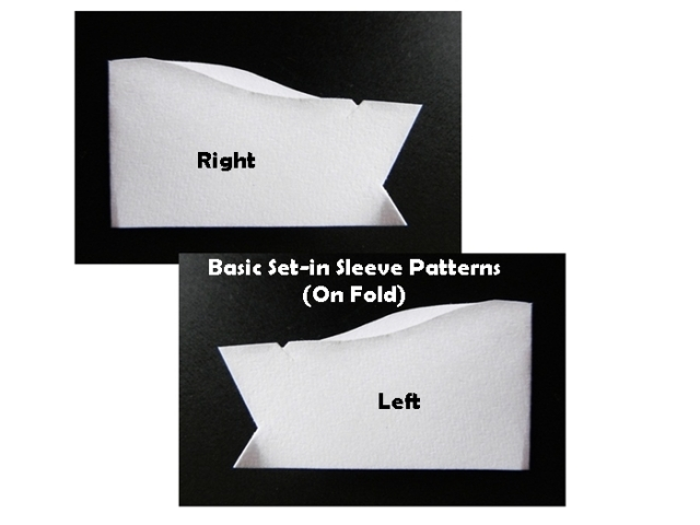 Set-in Sleeves Patterns On Fold