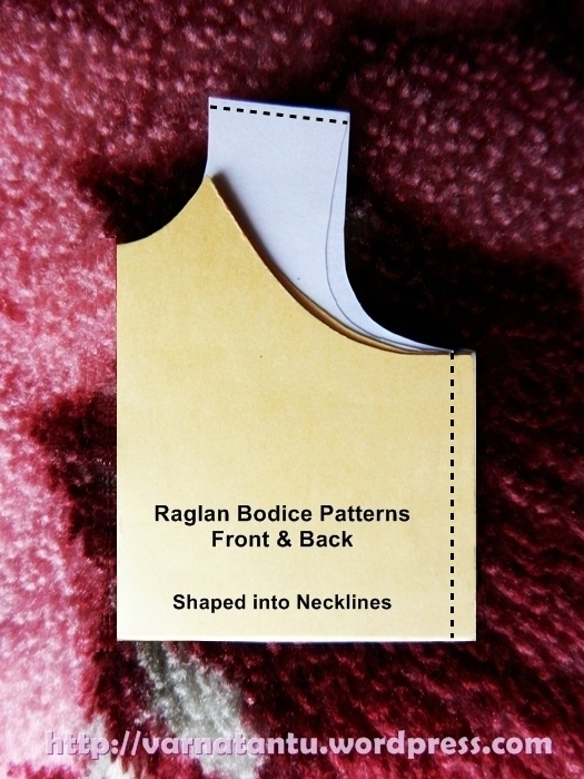 Raglan Bodice Patterns - Front & Back