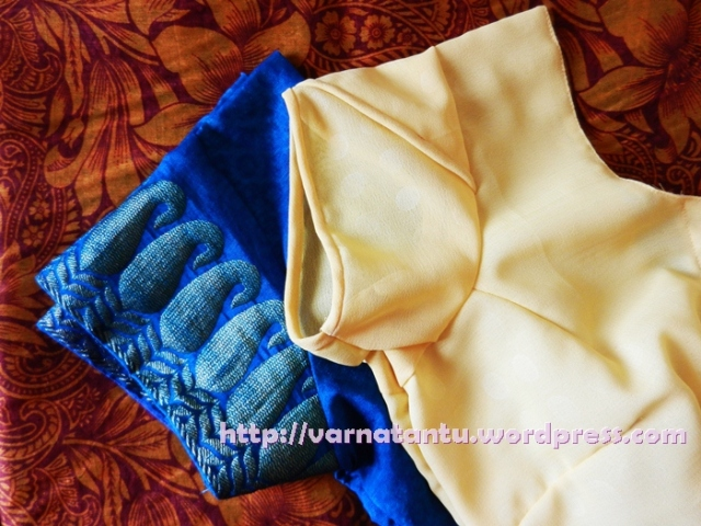 Two Newly Stitched Sari Blouses