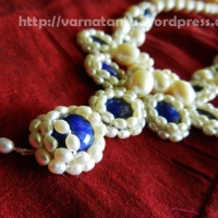 Lapis-lazuli & Rice Pearls Necklace