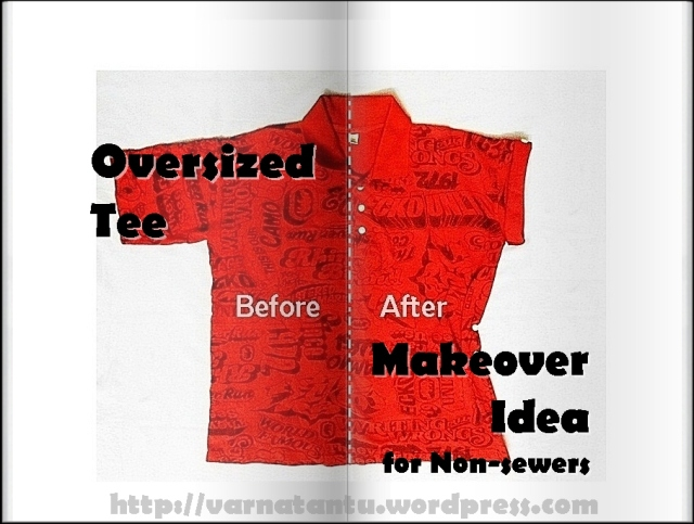Oversized Tee Makeover Idea for Non-sewers