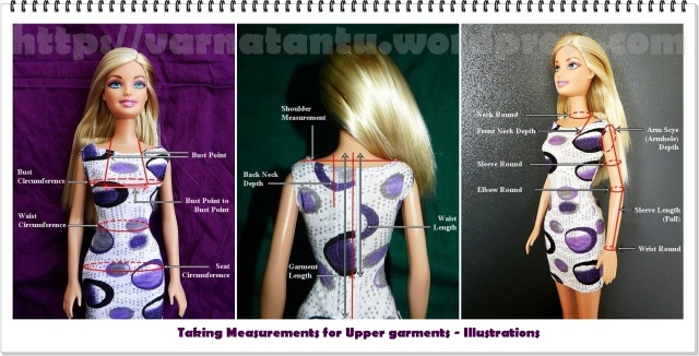 Taking Measurements for  Upper Garments