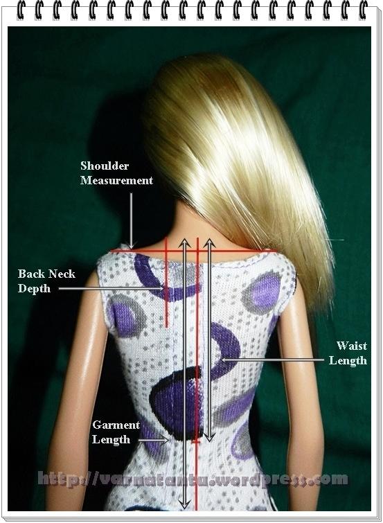 Upper Body Measurements -Shoulder & Waist Length
