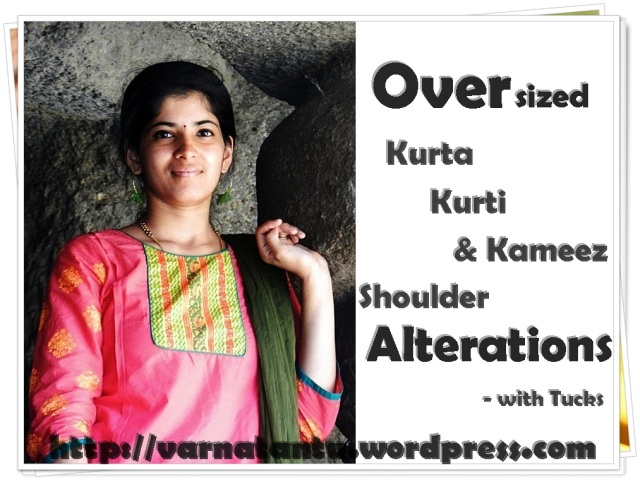 Kurta Shoulder Alterations - with Tucks