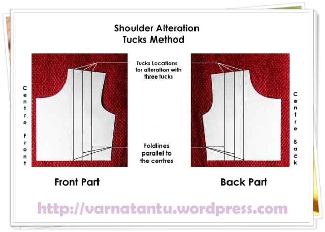 Pattern - Shoulder Alteration - Multiple Tucks Method