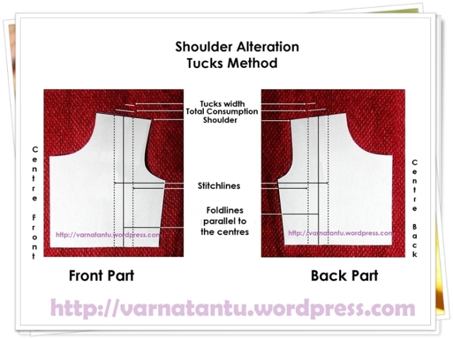 Pattern - Shoulder Alteration - Single Tuck Method
