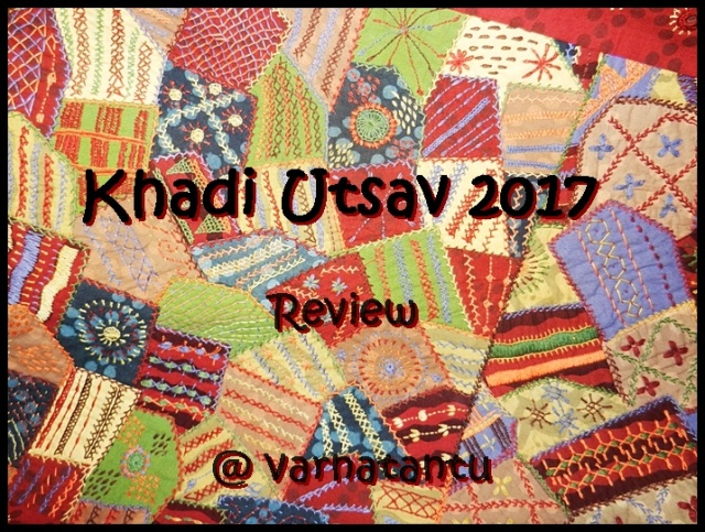 Khadi Utsav 2017 - Review card on a hand embroidered patch work wall hanging from Karnataka