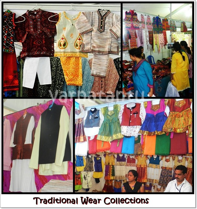 Some kids', women's and men's traditional wear collections from Khadi Utsav 2017